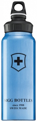 Butelka WMB Blue Swiss Cross 1.0L